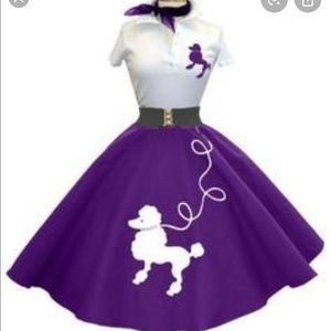 Purple Poodle Skirt SZ Lg by California Costumes